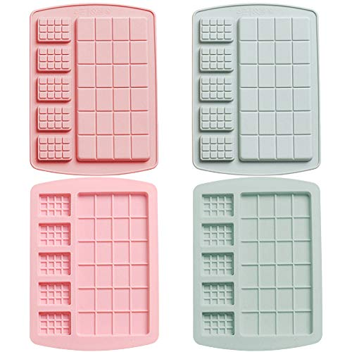 Silicone Cake Mould - WENTS 4PCS Waffle Silicone Mold  Cake Mold  DIY Chocolate Baking Mold  Two Sizes of Cake Mold ice Mold  Household Mold Helper
