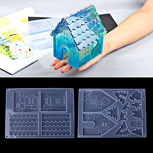 Yalulu 2pcs DIY Silicone Christmas Home Craft Mould Jewellery Mold Christmas Gingerbread House Mould Mould Jewellery Mould Silicone Mould Mould Mould Mould Mould Mould Mould Mould Mould Mould