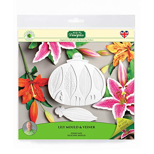 Lily Silicone Sugarpaste Icing Mould and Veiner  Flower Pro by Nicholas Lodge for Cake Decorating  Sugarcraft and Candies  Food Safe Approved  Made in The UK
