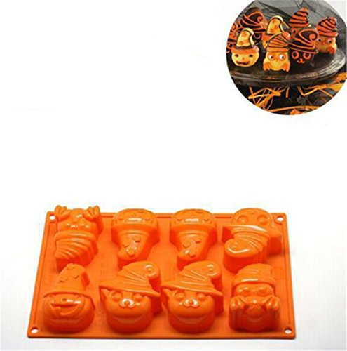 FantasyDay® Halloween Pumpkin Witch Ghost Silicone Mould Candy Mold Ice Tray for Holiday Chocolate  Muffin Cups  Wafer  Cake Toppers  Bath Bombs  Soaps Cookie and More