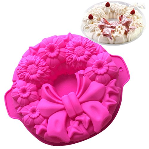 FantasyDay® Silicone Mould  11.5'' Bow Tie Flower Cake Mold Silicone Baking Molds Party Cake Bakeware for Your Birthday Dessert  Cake  Bread  Tart  Pie  Flan and More