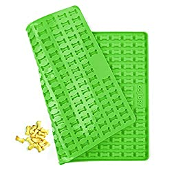 Collory Silicone Mini Bone Baking Mould for Dog Biscuits and Treats  Chocolate Mould  Non-Stick and Food-Safe (BPA-Free)  Silicone  Green  39 5 x 28 cm