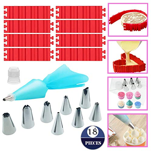 Woohome 8 PCS Silicone Cake Mold  Cake Pan Snake DIY Baking Mould Magic Bake Tools - Design Your Cakes Any Shape