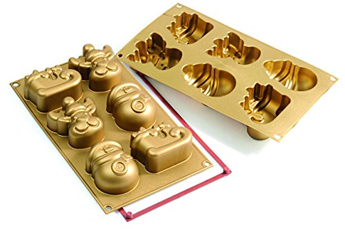 silikomart Silicone Mould Funny Christmas  Gold