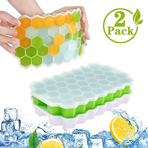 MEIRUIER Ice Cube Tray with Flexible Easy Release Mould  Silicone Ice Ball Cube Maker Use for Kids with Candy Pudding Jelly Milk Juice Chocolate Mold or Cocktails Whiskey Particles