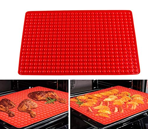 TOKERD Large Silicone Baking Mat Non-Stick Oven Silicone Baking Mat Mini Round Cookies Mould for Pet Treat  Chocolate  Temp-Resistant Silicone Mat for Kitchen Cooking BBQ(40 x 28cm  468 Cavities)