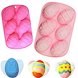 BETOY 2PCS Easter Egg Mould Silicone Soap Mold Cake Baking Moulds DIY Chocolate Pastry Cake Muffin Ice Cube Soap Biscuit