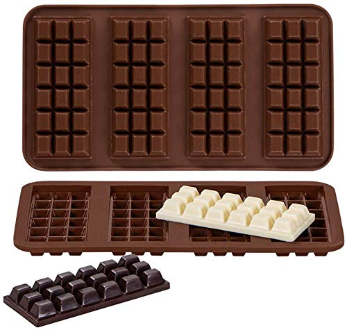 Webake Silicone Chocolate Mould Set of 2 Moulds Made of High Quality Platinum Silicone for Chocolate Making Party Chocolate