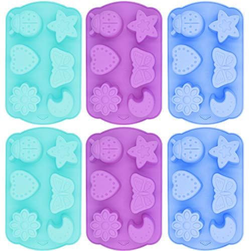 Silicone Cake Mould - WENTS Silicone Cake Mold  Christmas Mold Insect Moon Shape DIY Handmade 3D Chocolate Cake Silicone Mold (6PCS)