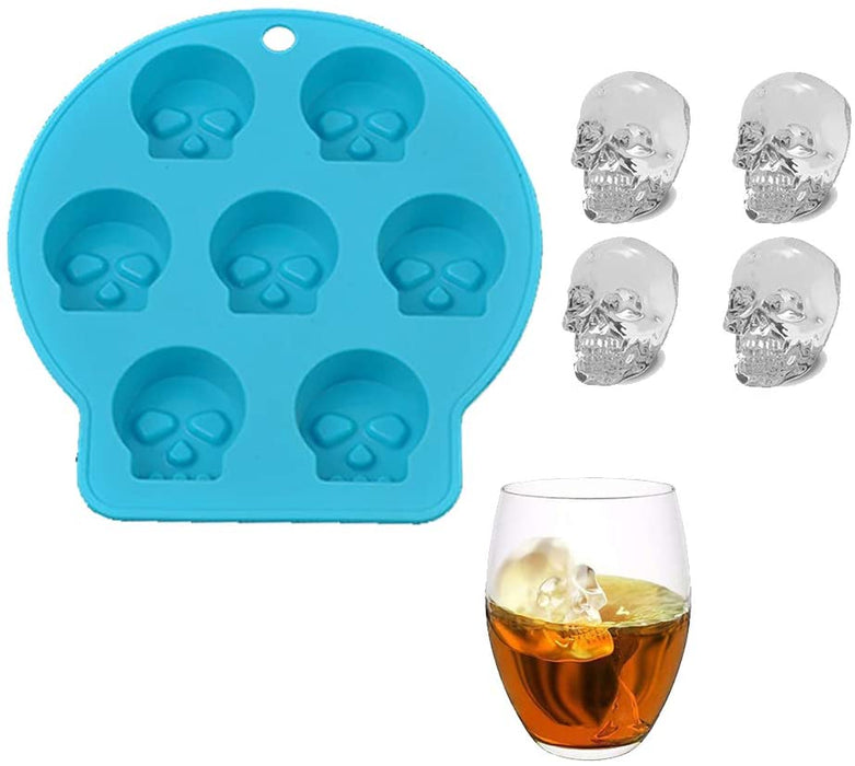 4Pcs Halloween Skull ice Cube Tray from Moldyfun