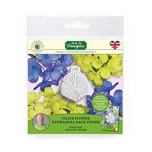 Filler Flower Hydrangea Petal Veiner  Silicone Sugarpaste Icing Mould  Flower Pro by Nicholas Lodge for Cake Decorating  Crafts  Cupcakes  Sugarcraft  Candies  Cards and Clay  Food Safe Approved