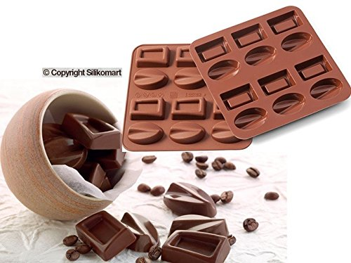 silikomart Wonder Cakes 22.502.77.0069 Liquid Form Praline Mould Silicone Brown 1.2 x 15.5 x 16.3 cm