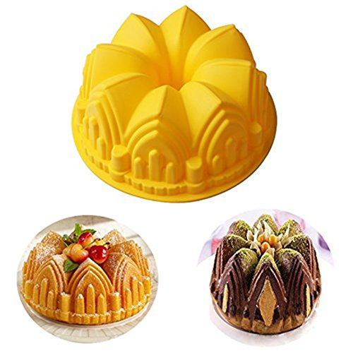 FantasyDay® Silicone Mould  11.02'' Crown Castle Cake Mold Silicone Baking Molds Party Cake Bakeware for Your Birthday Dessert  Cake  Bread  Tart  Pie  Flan and More