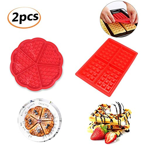 Silicone Waffle Mould  HENJI Waffle Baking Molds Bakeware  High Quality Muffin Mould Non Stick Baking Pan  Mini Heart Shape & Square