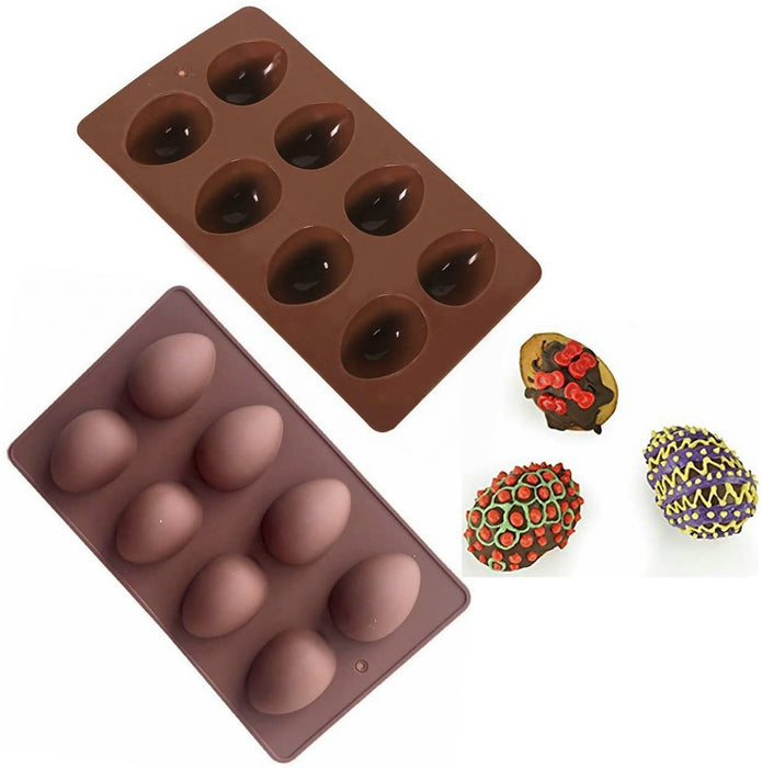 Easter 8-Cavity Egg Shape Silicone Baking mold from Moldyfun
