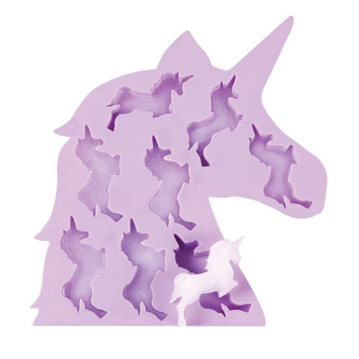 "Moldyfun Unicorn Ice Cube Tray - Soft Silicone - 9.25"" x 8.25"""