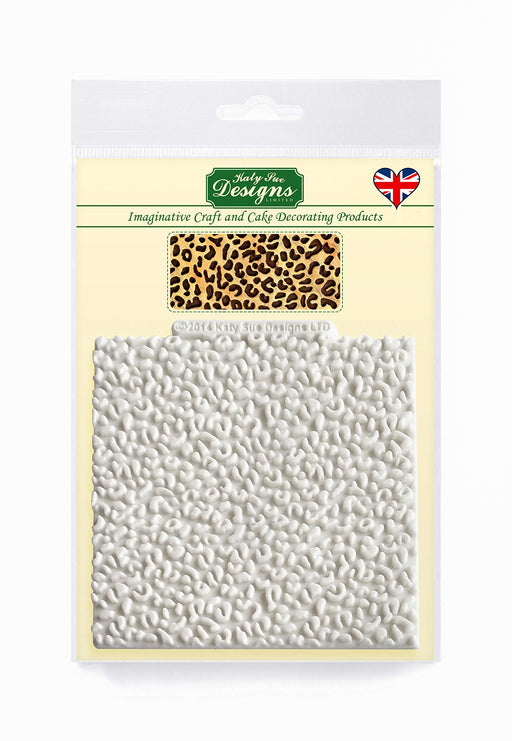 Leopard Print Design Mat Silicone Mould for Cake Decorating, Crafts, Cupcakes, Sugarcraft, Candies, Chocolate, Card Making and Clay, Food Safe Approved, Made in The UK
