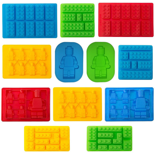 Moldyfun Lego Set of 12 Candy moulds For Bricks Lovers