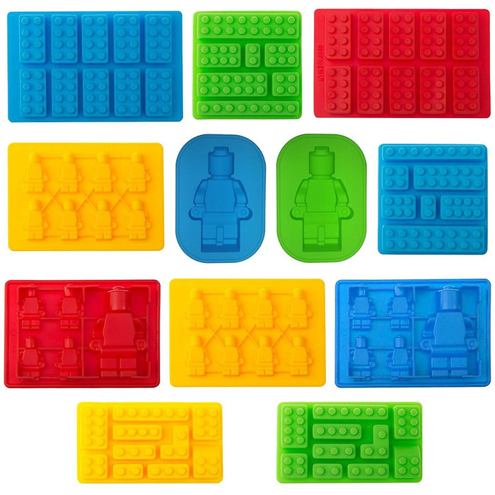 Lego Set of 12 Candy moulds For Bricks Lovers