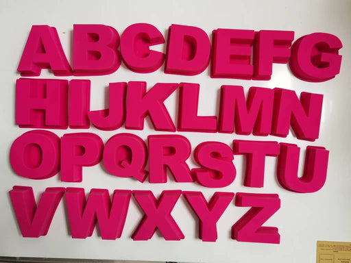 US Giant Pink Letters Molds A - Z (All 26 Letters Set) also available as single or pack of 2 - perfect for resins!