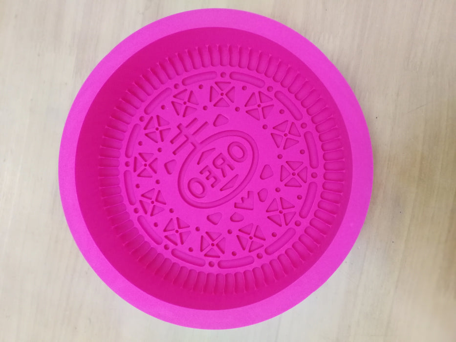 Oreo Cookie Mold - Giant biscuit silicone baking mold from Moldyfun