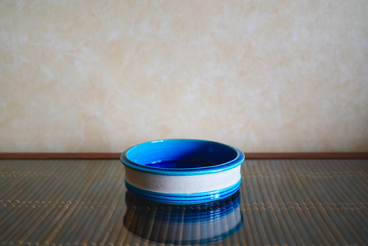 Kähler/Nils Kähler/Turquoise Ceramic Bowl - a quiet day