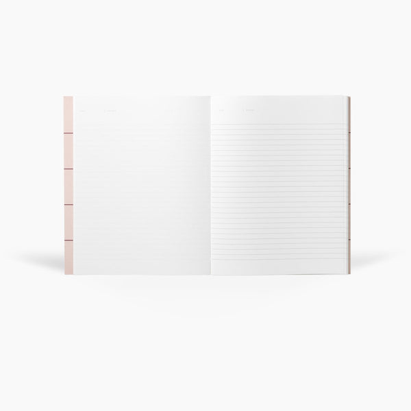 NOTEM - UMA Notebook, Light Gray / Rose