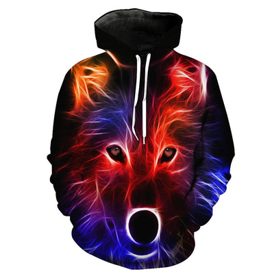 Line Red Wolf Hoodie
