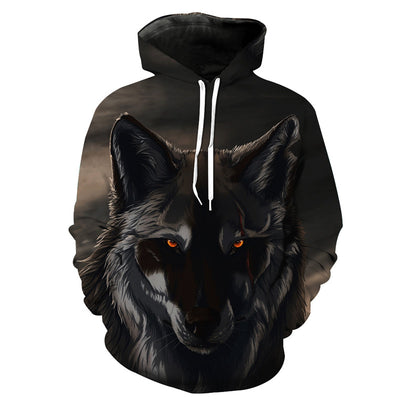 Red-Eye Black Wolf Hoodie