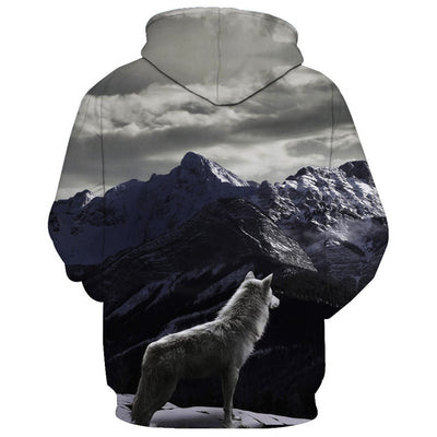 Mountains Wolf Hoodie