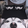 Peeking Husky Bedding Set