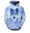 Hand-Stitched Wolf & Husky Hoodies - Limited Supply!