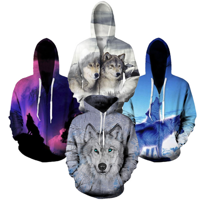 End of Summer Sales Blowout -- Handmade Wolf & Husky Hoodies!