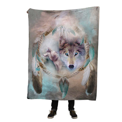 🐺 Handmade Super-Soft Native Wolf Blanket 🐺