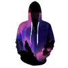 Purple Wolf Hoodie Zip-Up
