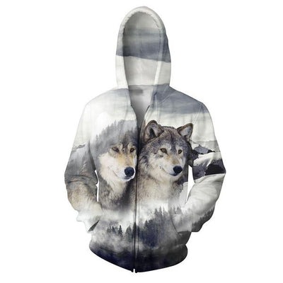 Best Selling Wolf Zip-Ups (Bundle Option Available)
