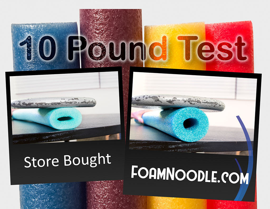 Pool Noodle Comparison 10 Pound Test