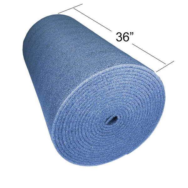 Blue Foam Sheet Roll 50 Feet x 36 Inch x 1/2 Inch thick for DIY Projects - Durable, easy to cut.