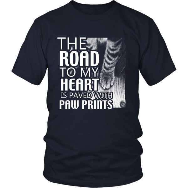 The Road to my Heart is paved with paw prints district unisex Shirt