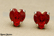Red Dainty Heart Earrings