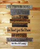 Reclaimed Pallet Wood Family Rules Sign • In our House Rules sign • Distressed Pallet wood Family Sign• big wood family sign