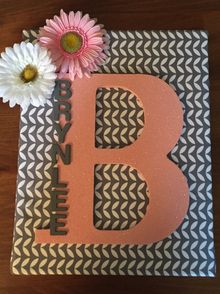 Personalized Hand Made Wall Art Canvas Name, Nursery Wall Art Room Decor, Home Decor