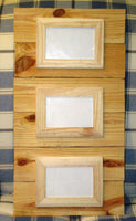 Triple Reclaimed Wood unfinished Frame, holds three 4X6 photos with glass, rustic unfinished wood pallet photo frame