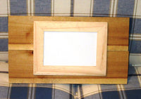Single Reclaimed Wood unfinished Frame, holds one 4X6 photos with glass, rustic unfinished wood pallet photo frame