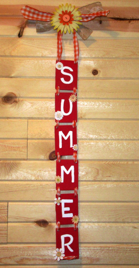 Handmade Summer Sign, Wall Summer sign, Wall art home decor