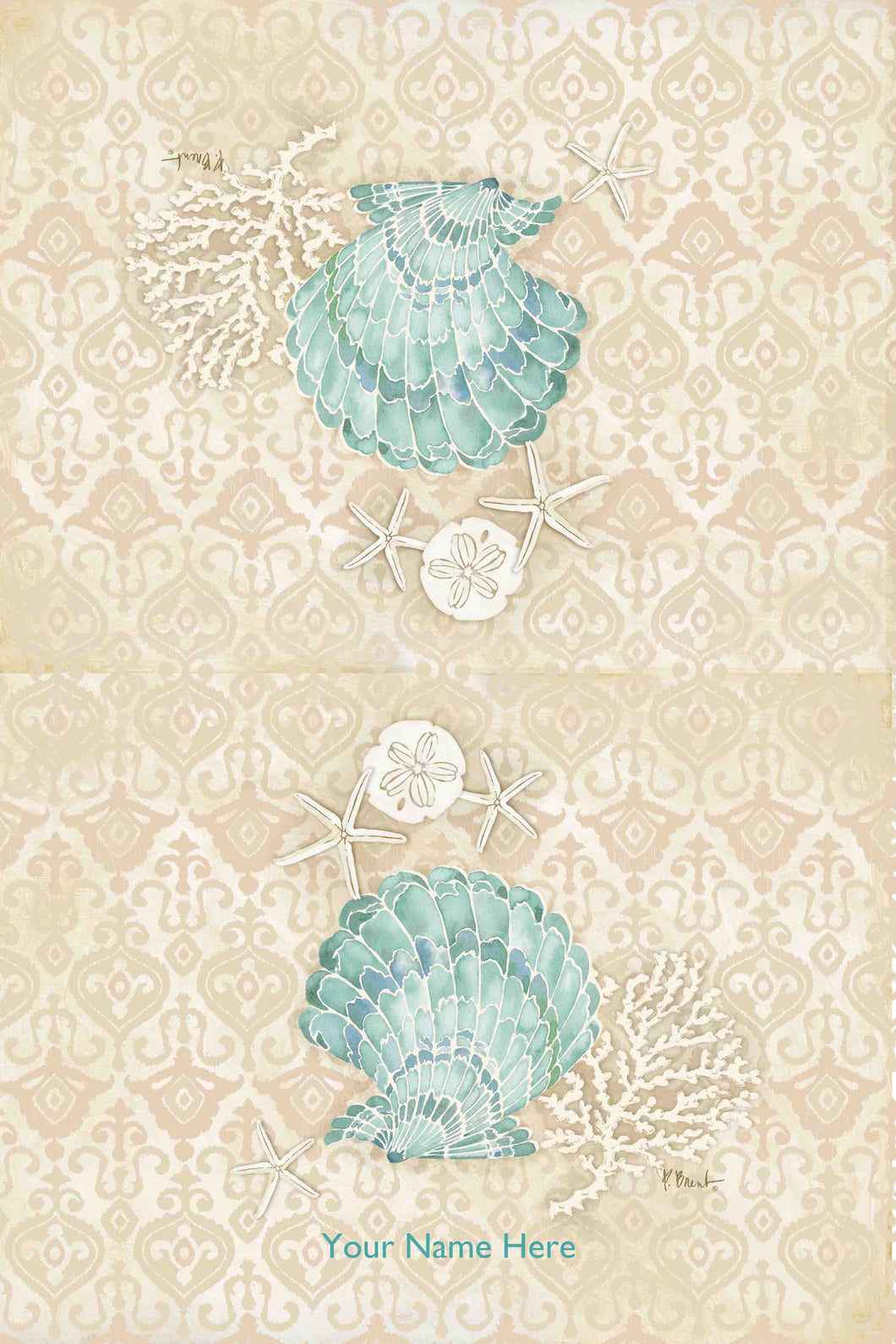 Laguna Shells  Scallop Kitchen Towel