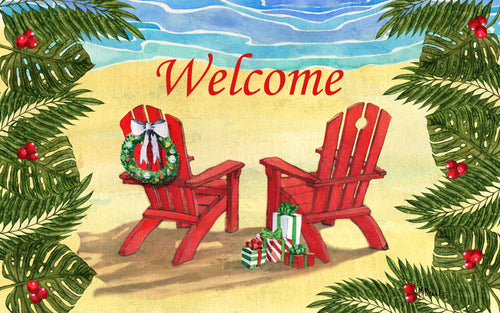 Holiday Adirondack Chairs Indoor/Outdoor Mat