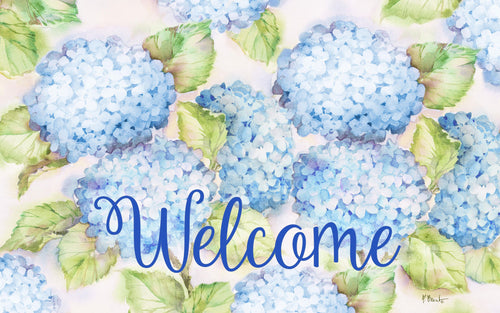 Blue Hydrangeas Indoor/Outdoor Mat