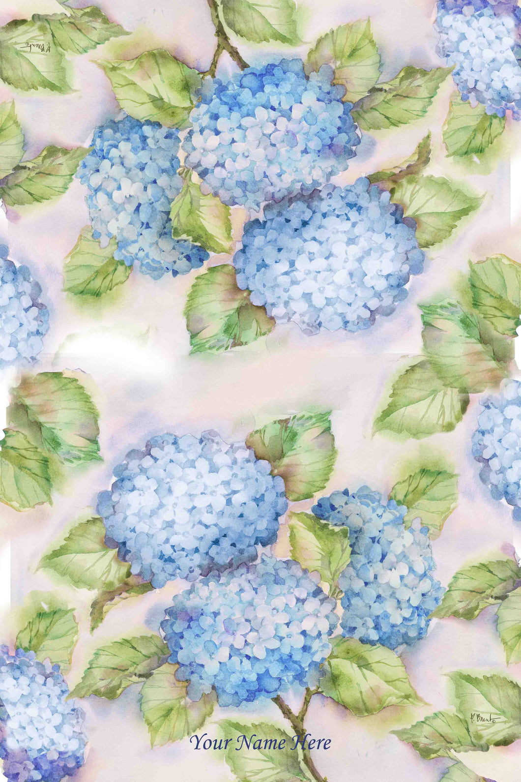 Blue Hydrangeas Kitchen Towel