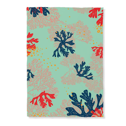 Coral Pattern Throw